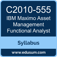 Maximo Asset Management Functional Analyst PDF, C2010-555 Dumps, C2010-555 PDF, Maximo Asset Management Functional Analyst VCE, C2010-555 Questions PDF, IBM C2010-555 VCE