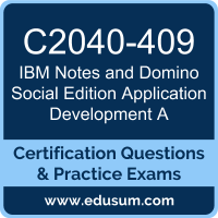 Notes and Domino Social Edition Application Development A Dumps, Notes and Domino Social Edition Application Development A PDF, C2040-409 PDF, Notes and Domino Social Edition Application Development A Braindumps, C2040-409 Questions PDF, IBM C2040-409 VCE