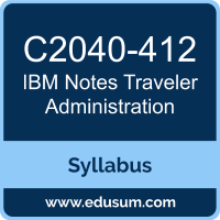 Notes Traveler Administration PDF, C2040-412 Dumps, C2040-412 PDF, Notes Traveler Administration VCE, C2040-412 Questions PDF, IBM C2040-412 VCE