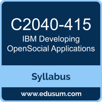 Developing OpenSocial Applications PDF, C2040-415 Dumps, C2040-415 PDF, Developing OpenSocial Applications VCE, C2040-415 Questions PDF, IBM C2040-415 VCE