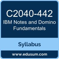 IBM Notes and Domino Fundamentals Certification Syllabus and