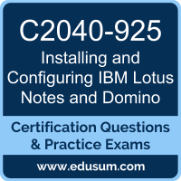 Installing and Configuring IBM Lotus Notes and Domino Dumps, Installing and Configuring IBM Lotus Notes and Domino PDF, C2040-925 PDF, Installing and Configuring IBM Lotus Notes and Domino Braindumps, C2040-925 Questions PDF, IBM C2040-925 VCE