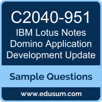 Lotus Notes Domino Application Development Update Dumps, C2040-951 Dumps, C2040-951 PDF, Lotus Notes Domino Application Development Update VCE, IBM C2040-951 VCE