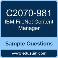 FileNet Content Manager Dumps, C2070-981 Dumps, C2070-981 PDF, FileNet Content Manager VCE, IBM C2070-981 VCE