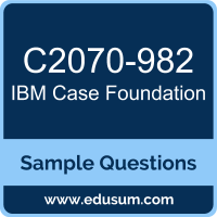 Case Foundation Dumps, C2070-982 Dumps, C2070-982 PDF, Case Foundation VCE, IBM C2070-982 VCE