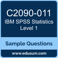 Free IBM SPSS Statistics Level 1 Sample Questions and Study