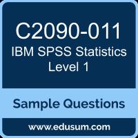 SPSS Statistics Level 1 Dumps, C2090-011 Dumps, C2090-011 PDF, SPSS Statistics Level 1 VCE, IBM C2090-011 VCE