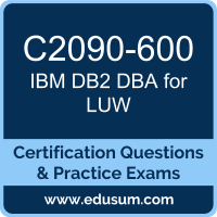 DB2 DBA for LUW Dumps, DB2 DBA for LUW PDF, C2090-600 PDF, DB2 DBA for LUW Braindumps, C2090-600 Questions PDF, IBM C2090-600 VCE