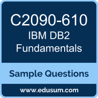 Free IBM DB2 Fundamentals Sample Questions and Study Guide | EDUSUM
