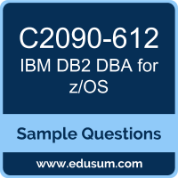 DB2 DBA for z/OS Dumps, C2090-612 Dumps, C2090-612 PDF, DB2 DBA for z/OS VCE, IBM C2090-612 VCE