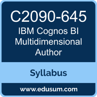 Cognos BI Multidimensional Author PDF, C2090-645 Dumps, C2090-645 PDF, Cognos BI Multidimensional Author VCE, C2090-645 Questions PDF, IBM C2090-645 VCE