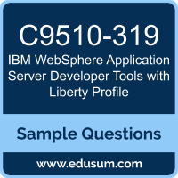 WebSphere Application Server Developer Tools with Liberty Profile Dumps, C9510-319 Dumps, C9510-319 PDF, WebSphere Application Server Developer Tools with Liberty Profile VCE, IBM C9510-319 VCE