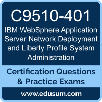 WebSphere Application Server Network Deployment and Liberty Profile System Administration Dumps, WebSphere Application Server Network Deployment and Liberty Profile System Administration PDF, C9510-401 PDF, WebSphere Application Server Network Deployment and Liberty Profile System Administration Braindumps, C9510-401 Questions PDF, IBM C9510-401 VCE