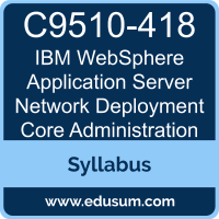 WebSphere Application Server Network Deployment Core Administration PDF, C9510-418 Dumps, C9510-418 PDF, WebSphere Application Server Network Deployment Core Administration VCE, C9510-418 Questions PDF, IBM C9510-418 VCE