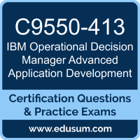 Operational Decision Manager Advanced Application Development Dumps, Operational Decision Manager Advanced Application Development PDF, C9550-413 PDF, Operational Decision Manager Advanced Application Development Braindumps, C9550-413 Questions PDF, IBM C9550-413 VCE