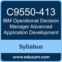 Operational Decision Manager Advanced Application Development PDF, C9550-413 Dumps, C9550-413 PDF, Operational Decision Manager Advanced Application Development VCE, C9550-413 Questions PDF, IBM C9550-413 VCE