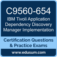 Tivoli Application Dependency Discovery Manager Implementation Dumps, Tivoli Application Dependency Discovery Manager Implementation PDF, C9560-654 PDF, Tivoli Application Dependency Discovery Manager Implementation Braindumps, C9560-654 Questions PDF, IBM C9560-654 VCE