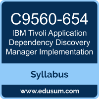 Tivoli Application Dependency Discovery Manager Implementation PDF, C9560-654 Dumps, C9560-654 PDF, Tivoli Application Dependency Discovery Manager Implementation VCE, C9560-654 Questions PDF, IBM C9560-654 VCE
