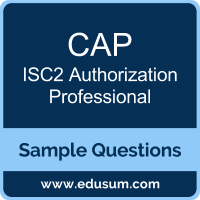 CAP Dumps, CAP PDF, CAP VCE, ISC2 Authorization Professional VCE