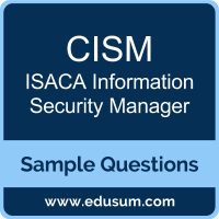 CISM Dumps, CISM PDF, CISM VCE, ISACA Information Security Manager VCE, ISACA Information Security Manager PDF