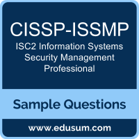 CISSP-ISSMP Dumps, CISSP-ISSMP PDF, CISSP-ISSMP VCE, ISC2 Information Systems Security Management Professional VCE