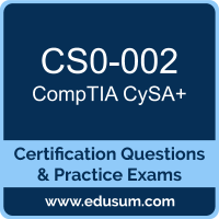 CySA+ Dumps, CySA+ PDF, CS0-002 PDF, CySA+ Braindumps, CS0-002 Questions PDF, CompTIA CS0-002 VCE, CompTIA CySA Plus Dumps