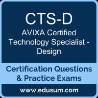 CTS-D Dumps, CTS-D PDF, CTS-D Braindumps, AVIXA CTS-D Questions PDF, AVIXA CTS-D VCE, AVIXA CTS-D - Design Dumps