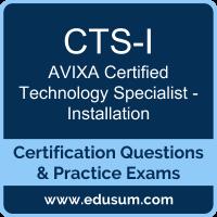 CTS-I Dumps, CTS-I PDF, CTS-I Braindumps, AVIXA CTS-I Questions PDF, AVIXA CTS-I VCE, AVIXA CTS-I - Installation Dumps