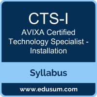 CTS-I PDF, CTS-I Dumps, CTS-I VCE, Certified Technology Specialist - Installation Questions PDF, AVIXA Certified Technology Specialist - Installation VCE, AVIXA CTS-I - Installation Dumps, AVIXA CTS-I - Installation PDF