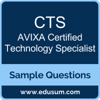 Free AVIXA CTS Sample Questions and Study Guide | EDUSUM