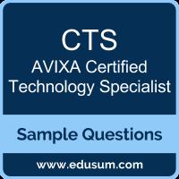 Free AVIXA CTS Sample Questions and Study Guide | EDUSUM | EDUSUM