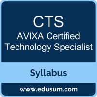 CTS PDF, CTS Dumps, CTS VCE, Certified Technology Specialist Questions PDF, AVIXA Certified Technology Specialist VCE, AVIXA CTS - General Dumps, AVIXA CTS - General PDF