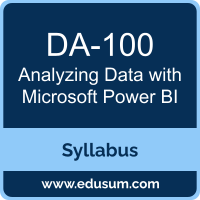 Analyzing Data with Microsoft Power BI PDF, DA-100 Dumps, DA-100 PDF, Analyzing Data with Microsoft Power BI VCE, DA-100 Questions PDF, Microsoft DA-100 VCE, Microsoft MCA Data Analyst Dumps, Microsoft MCA Data Analyst PDF