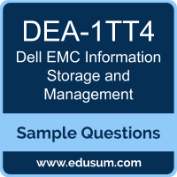 Information Storage and Management Dumps, DEA-1TT4 Dumps, DEA-1TT4 PDF, Information Storage and Management VCE, Dell EMC DEA-1TT4 VCE, Dell EMC DECA-ISM PDF
