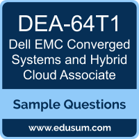 Converged Systems and Hybrid Cloud Associate Dumps, DEA-64T1 Dumps, DEA-64T1 PDF, Converged Systems and Hybrid Cloud Associate VCE, Dell EMC DEA-64T1 VCE, Dell EMC DCA-CSHC PDF