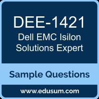 Isilon Solutions Expert Dumps, DEE-1421 Dumps, DEE-1421 PDF, Isilon Solutions Expert VCE, Dell EMC DEE-1421 VCE, Dell EMC DCE-IE PDF