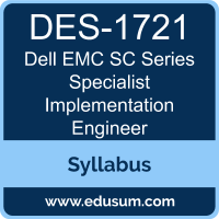 SC Series Specialist Implementation Engineer PDF, DES-1721 Dumps, DES-1721 PDF, SC Series Specialist Implementation Engineer VCE, DES-1721 Questions PDF, Dell EMC DES-1721 VCE, Dell EMC DCS-IE Dumps, Dell EMC DCS-IE PDF