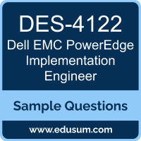 PowerEdge Implementation Engineer Dumps, DES-4122 Dumps, DES-4122 PDF, PowerEdge Implementation Engineer VCE, Dell EMC DES-4122 VCE, Dell EMC DCS-IE PDF