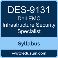 Infrastructure Security Specialist PDF, DES-9131 Dumps, DES-9131 PDF, Infrastructure Security Specialist VCE, DES-9131 Questions PDF, Dell EMC DES-9131 VCE, Dell EMC DCS-IS Dumps, Dell EMC DCS-IS PDF