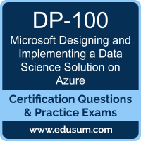 Designing and Implementing a Data Science Solution on Azure Dumps, Designing and Implementing a Data Science Solution on Azure PDF, DP-100 PDF, Designing and Implementing a Data Science Solution on Azure Braindumps, DP-100 Questions PDF, Microsoft DP-100 VCE, Microsoft Designing and Implementing a Data Science Solution on Azure Dumps