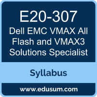 VMAX All Flash and VMAX3 Solutions Specialist PDF, E20-307 Dumps, E20-307 PDF, DCS-IE VCE, E20-307 Questions PDF, Dell EMC E20-307 VCE