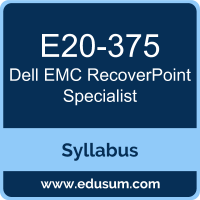 DCS-IE PDF, E20-375 Dumps, E20-375 PDF, DCS-IE VCE, E20-375 Questions PDF, Dell EMC E20-375 VCE