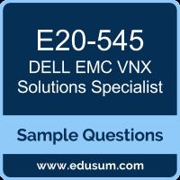 Free DELL EMC VNX Solutions Specialist (EMCTA) Sample