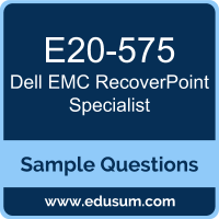 Free Dell EMC RecoverPoint Specialist Sample Questions and