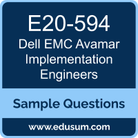 Avamar Implementation Engineers Dumps, E20-594 Dumps, E20-594 PDF, Avamar Implementation Engineers VCE, Dell EMC E20-594 VCE, Dell EMC DCS-IE PDF