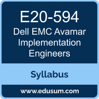 Avamar Implementation Engineers PDF, E20-594 Dumps, E20-594 PDF, Avamar Implementation Engineers VCE, E20-594 Questions PDF, Dell EMC E20-594 VCE, Dell EMC DCS-IE Dumps, Dell EMC DCS-IE PDF