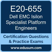 Isilon Specialist Platform Engineers Dumps, Isilon Specialist Platform Engineers PDF, E20-655 PDF, Isilon Specialist Platform Engineers Braindumps, E20-655 Questions PDF, Dell EMC E20-655 VCE, Dell EMC DCS-PE Dumps