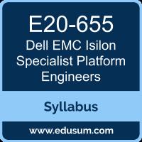 Isilon Specialist Platform Engineers PDF, E20-655 Dumps, E20-655 PDF, Isilon Specialist Platform Engineers VCE, E20-655 Questions PDF, Dell EMC E20-655 VCE, Dell EMC DCS-PE Dumps, Dell EMC DCS-PE PDF