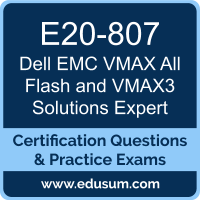 VMAX All Flash and VMAX3 Solutions Expert Dumps, VMAX All Flash and VMAX3 Solutions Expert PDF, E20-807 PDF, VMAX All Flash and VMAX3 Solutions Expert Braindumps, E20-807 Questions PDF, Dell EMC E20-807 VCE, Dell EMC DCE Dumps