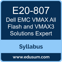 VMAX All Flash and VMAX3 Solutions Expert PDF, E20-807 Dumps, E20-807 PDF, VMAX All Flash and VMAX3 Solutions Expert VCE, E20-807 Questions PDF, Dell EMC E20-807 VCE, Dell EMC DCE Dumps, Dell EMC DCE PDF